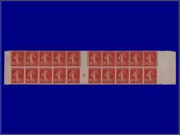 """Qualité: (X) – 138, Bloc De 20, 10 Paires Dentelées Sur 3 Cotés Tenant à Non Dentelés, Millésime """"6"""", Signé Brun. - Unclassified"""