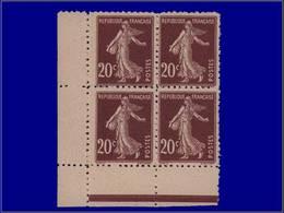 Qualité: XX – Maury 139 D, Dentelé 11, Bloc De 14, Cdf: 20c. Brun Semeuse. Cote: +1800 - Unclassified