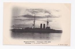 DUGUAY-TROUIN -  CAMPAGNE 1905-1906  -   GIBRALTAR - LE CUIRASSE DOMINION - Gibraltar