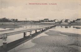 + CPA 50 Bricqueville Les Salines - La Passerelle + - France