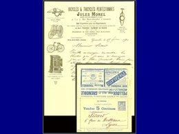 Qualité: O – Sage 15c. Bleu, Carte-lettre Vendue 5c, (série 202), L'intérieur Publicitaire Est Remplacé Par Une Superbe  - Postal Stamped Stationery