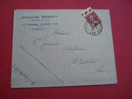 1935 ENVELOPPE LA CADIERE D'AZUR ATHANASE BONIFY COURTIER EN VINS - Publicités