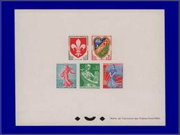 Qualité: EPL – 1230/34, épreuve Collective (tirage 25): Série Courante 1960. Cote: 550 - Luxury Proofs