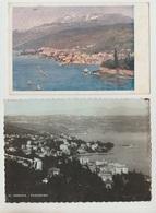 N.2 CARTOLINE ABBAZIA OPATIJA CROAZIA REPUBLIKA HRVATSKA PANORAMA VIAGGIATE 1925 1946 - Croazia