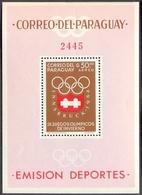 PARAGUAY - OLYMPIC INNSBRUCK - Perf MS - Mich. Bl.  48 - **MNH - 1964 - Winter 2012: Innsbruck (Olympische Jugendspiele)