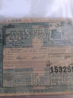 Document Colis Postal - 15à20Kg 3 èime Zone -  Côte Maury  30,00€ N° 199 TTB - Colis Postaux