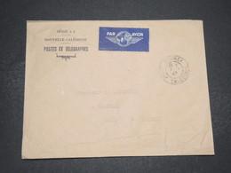 NOUVELLE CALÉDONIE - Enveloppe En Franchise Postale De Nouméa Pour Cambrai En 1947 Par Avion - L 16495 - Neukaledonien