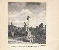 1935 - Iconographie - Saint-Sauveur-le-Vicomte (Manche) - Un Calvaire Aux Environs - FRANCO DE PORT - Unclassified