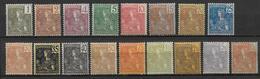 INDOCHINE - YVERT N°24/40 * CHARNIERE LEGERE - COTE = 735 EUR. - Unused Stamps