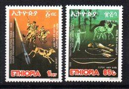 Serie Nº 1205/6 Etiopia - Animalez De Caza