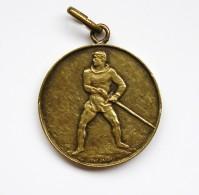 """Médaille Ronde à Bélière """"Mobilisation De Guerre"""" 1939-1940 Rgt. Ter.71  Genève Luc Jaggi. Scp. H. Huguenin - Andere Landen"""