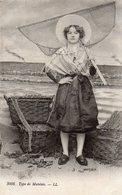 Costume De Matelote 1915 Cachet BAIN DE BRETAGNE - Costumi