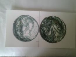 Avernes Bronze Motvidiaca Après 52 Ac Tête Jeune Imberbe à G Rv / Hippocampe A G ;légende Autour - Gauloises