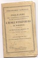 Programme Des Conditions D'admission A L'école D'ingénieurs De Marseille  (cl13) - Programs