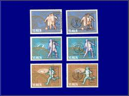 """Qualité: XX – Michel 260/65, Surcharge Noire """"4 B"""": Jeux Olympiques De Tokyo 1964, Football Jules Rimet. Cote: 480 - Yemen"""
