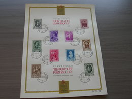 BELG.1941 573-82 Europese Vorsten / Princes Européens Bruxelles/Brussel 25-08-1941Herdenkingsblad-Feuillet Souvenir - FDC