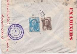 Iran-1942 World War 2 Russian And United Kingdom Censored Kerman Cover To United States - Iran