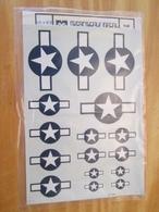 DEC514 :  Planche De Décals Pour Maquette D'avions 1/48e : Marque MICROSCALE Pour DECOS US 39/45 (bombardiers Vu La Tail - Airplanes