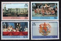Anguilla Set Of Stamps To Celebrate 25th Anniversary Of The Coronation. - Anguilla (1968-...)