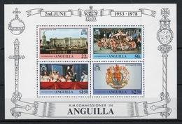 Anguilla Mini Sheet To Celebrate 25th Anniversary Of The Coronation. - Anguilla (1968-...)