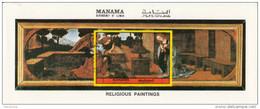 Manama 1972 Annunciazione  Quadro Dipinto Da Leonardo Da Vinci  Used Rinascimento Paintings Tableaux - Madonna