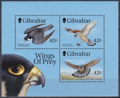 Gibraltar 1999 Tiere Fauna Animals Vögel Birds Oiseaux Pajaro Uccelli Falken Falcons, Bl. 39 ** - Gibraltar