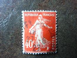40c Vermillon Y&T= 194 Oblitéré - 1906-38 Sower - Cameo