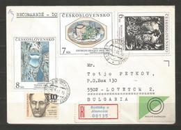 CHECOSLOVAKIA - INTERESTING  COVER Traveled To BULGARIA  - D 1814 - Cecoslovacchia