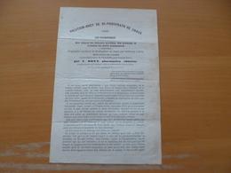 Publicité XIXème Solution Odette De Bi Phosphate De Chaux Anti Pneumophyque Médecine Pharmacie Par Odet Paris Lyon - Publicités