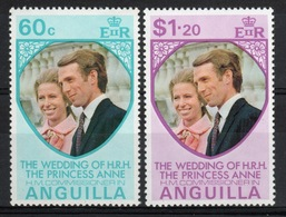 Anguilla Set Of Stamps To Celebrate Royal  Wedding 1973. - Anguilla (1968-...)