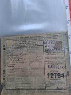 Document Colis Postal -  Colis  5Kg  -  Côte 50.00 € N° 167 Perfo VE - Colis Postaux