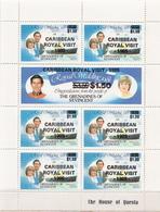 Grenadines Of St Vincent MNH Diana Sheetlet With Caribbean Royal Visit Overprint - St.Vincent & Grenadines