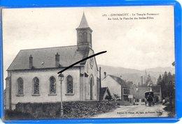 CPA 90 - GIROMAGNY - Le Temple Protestant - Au Fond, La Planche Des Belles-Filles - Giromagny