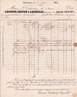 Lettre 1861 Montauban Lacroux Castan & Laqueille Julien Chapel Petits Chiffres 2063 Varen Saint-Antonin-Noble-Val - 1849-1876: Klassieke Periode