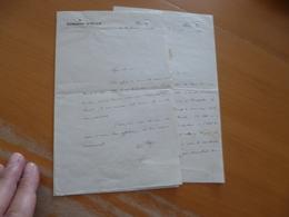 3 LAS Autographes à En Tête Conseil D'état L. Roger 1910/11 Concession Des Mines Du Caylar Olivier Vieille Montagne - Autógrafos