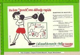 BUVARD  : Un Bon Punch L'Aliment Du Muscle Le Sucre N°9 Boxe - Cake & Candy