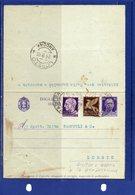 ##(DAN185)-20-9-1945-biglietto Postale Cent.50 Filagrano B 32 Usato Da  Macerata Per Loreto, Diciture Sopra Perforazione - Storia Postale