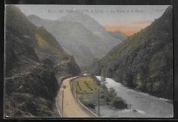 CPA 65 - Pierrefitte, La Route Et Le Gave De Pierrefitte à Luz - France