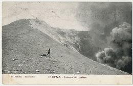 Etna Interno Del Cratere  Editor G. Pinotti Taormina  P. Used - Italië