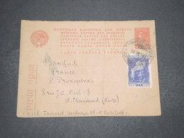 U.R.S.S. - Entier Postal Réponse + Complément Pour La France En 1931 - L 16498 - ...-1949