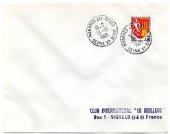 SEINE Et OISE - Dépt N° 78 = MANDRES Les ROSES 1965 =  CACHET ROND MANUEL Non Codé A8 - Marcophilie (Lettres)