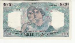 "1000 Francs ""Minerve Et Hercule"", Type 1945 - 1871-1952 Antichi Franchi Circolanti Nel XX Secolo"