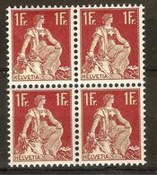 Zu 115 / Mi 109x / YT 126 Bloc De 4 **/MNH SBK 160,- Voir Description + 2 Scans - Unused Stamps