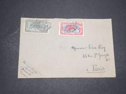 CAMEROUN - Enveloppe De Yaoundé Pour Paris En 1917 , Affranchissement Surchargés - L 16505 - Cameroun (1915-1959)