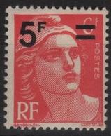 FRANCE N° 827 Neuf** Marianne De Gandon Surchargée - Frankreich