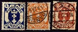 Danzig 1922 Mi 123; 125-126 Y, Gestempelt [040518XXII] - Danzig