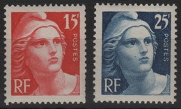 FRANCE N° 832/33 Neuf** 1er Choix Marianne De Gandon - France
