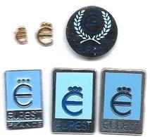 EUREST - E5 - RESTAURATION FERROVIAIRE - 5 Pin's Sigles Et Logos - Verso : 4 SM / MADE IN FRANCE / EOLE / - Merken