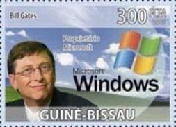 Guinea Bissau Bill Gates Computer Windows Microsoft 1v Stamp Michel 4191 - Non Classificati