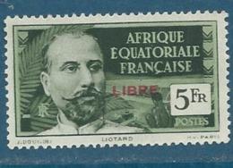 Afrique Equatoriale Française   - Yvert N° 136 (*)   - Bce 11719 - A.E.F. (1936-1958)